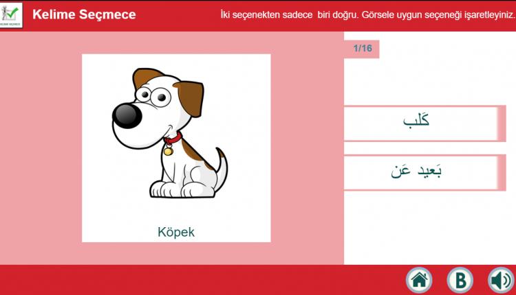 Arapça- İnteraktif Kelime Öğrenme Dijital İçerik Uygulaması