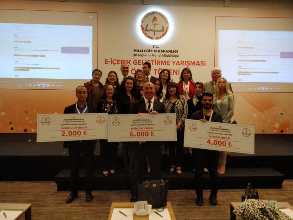 E-İçerik Geliştirme Yarışması Ödül Töreni